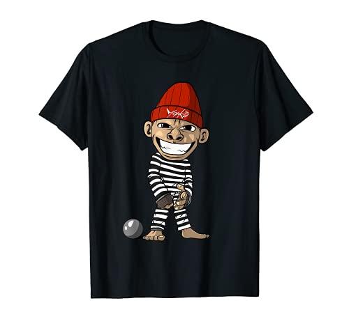 Prisionero Prisin Mono Condenado Camiseta
