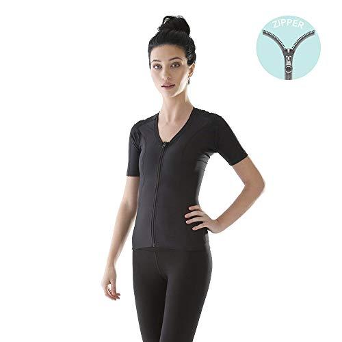 Anodyne Posture Shirt 2.0 Zip (z zamkiem błyskawicznym) – kobiety   Black FriDAY   korekta postawy pleców i barków   zmniejsza ból i napięcie   sprawdzona medycznie i dopuszczona do użytku  