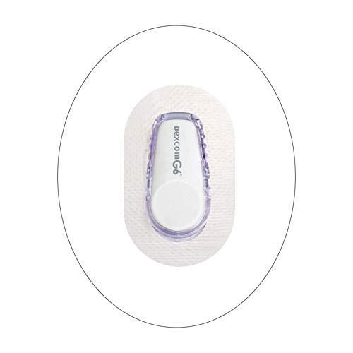 Wasserdichte Klebepatches für Dexcom G6-25Pack Premium Transparent Overpatch 10 Tage lange Abdeckungen Einfach mit einer Hand zu bedienen