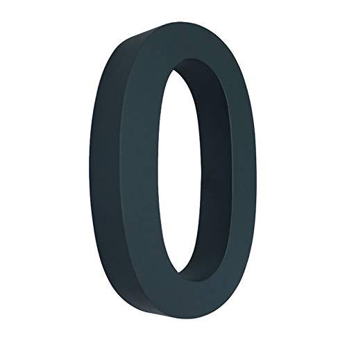 0 Hausnummer 3D anthrazit RAL7016 Edelstahl V2A rostfrei wetterfest Höhe 20cm inkl. Montagematerial erhältlich 0 1 2 3 4 5 6 7 8 9 a b c d