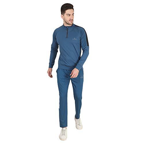 Dpassion polyester 4 way lycra regular fit track suitfor men sports / track suit for men sports branded