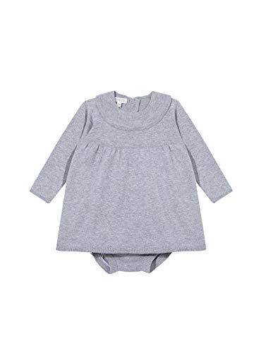 Gocco Vestido Punto Volante Dress, Gris Claro Melange, 43991 para Bebés