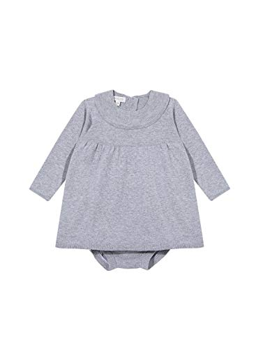 Gocco Vestido Punto Volante Dress, Gris Claro Melange, 44086 para Bebés