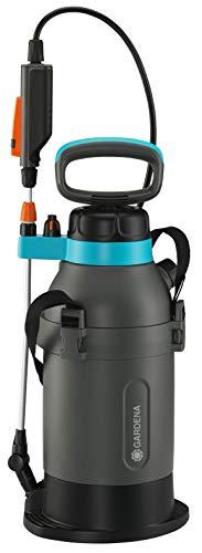 Gardena Pulverizador a presión 5 L Plus, Turquesa Negro Gris Naranja Plateado metálico, 5l mit Batterie