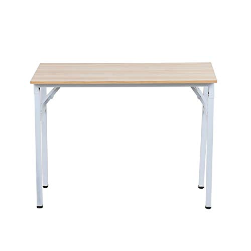 Hironpal Folding Computer Desk Home Office Table Foldable Study Table for Students Writing Desk PC Laptop Gaming Workstation Furniture Set for Living Room Bedroom, No Installation Needed