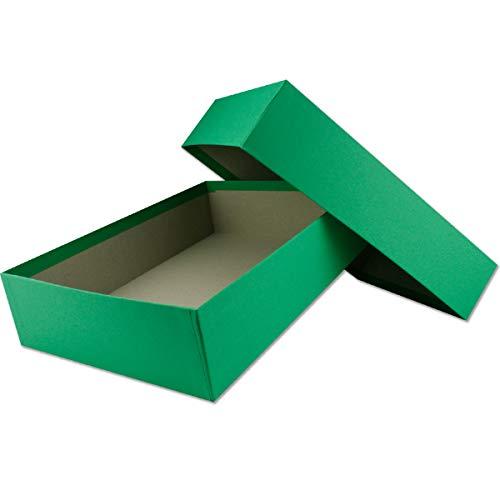 Cajas de almacenamiento y regalo de alta calidad, 1 unidad, DIN A4, color verde, 302 x 213 x 70 mm