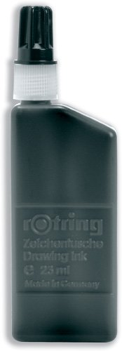Rotring S0194660 Zeichentinte für Isograph-Stifte 23 ml schwarz