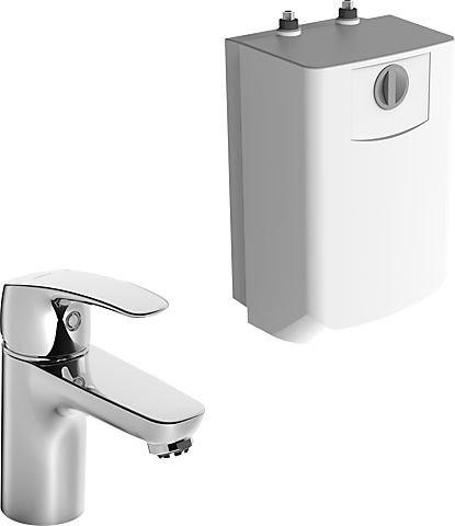 Hansa 45341183 Niederdruck Einhebelmischer/Waschtischbatterie HANSAPINTO DN15 |für offene Heißwasserbereiter, Luftsprudler| Ablaufgarnitur: Metall, Kupferrohre
