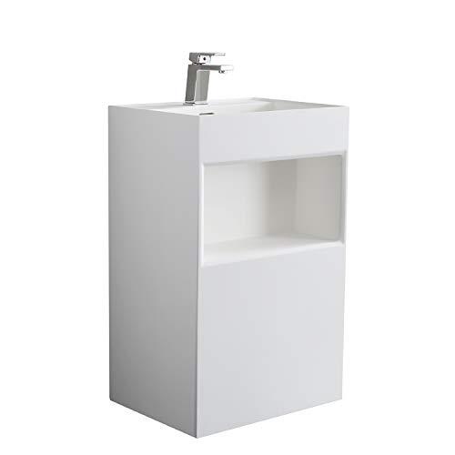 STONEART Standwaschbecken LZ517 weiß/50x45cm/matt