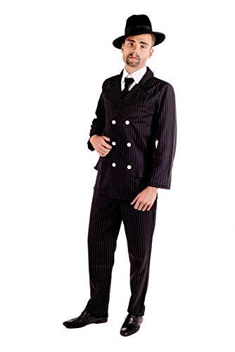 Fun Shack Schwarzes Gangster Kostüm für Herren, 20er Jahre Anzug - L