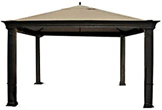 Garden Winds LCM834BUGF-RS Tiverton (Series 0) Gazebo RipLock 500 Replacement Canopy,  Beige