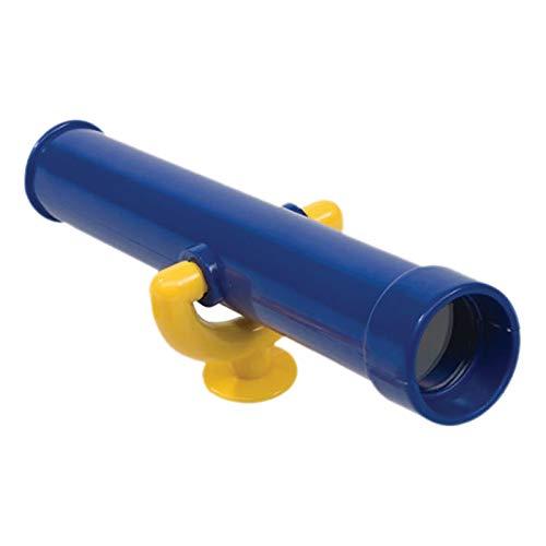 SunniMix Outdoor Kinder Spielplatz Monokulare Pirate Teleskop Spielzeug für Outdoor Holz Schaukel für Kinder Kinder Interaktives Lernen - Blau