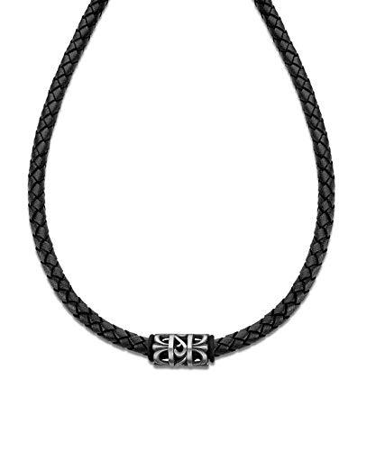 Lotus Style Collar modelo LS2069-1/2 de la colección Dark Style en cuero para caballero