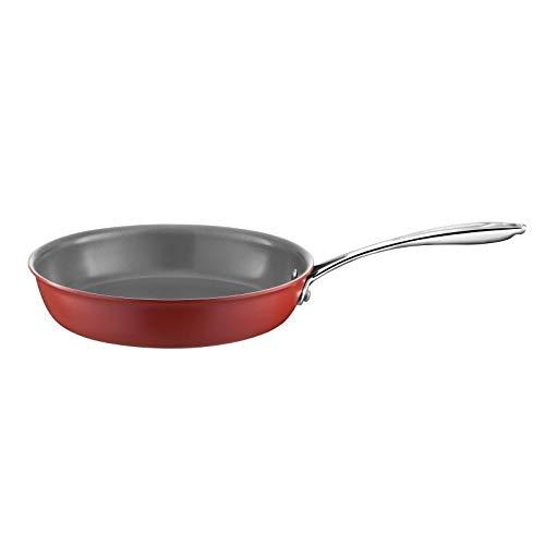 Cuisinox Cuiceram - Poêle 28cm aluminium laqué rouge, revêtement céramique