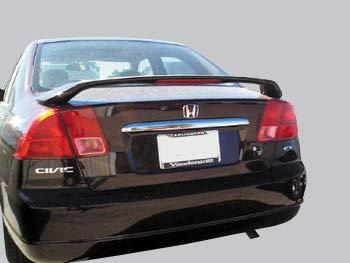 Accent Spoilers- Spoiler for a Honda Civic 4-Door Sedan Factory Style Spoiler-Milano Red Paint Code: R81