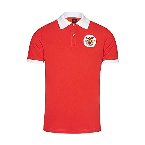 Benfica Herren Sl 70's Polo Trikot, Rot/Weiß, XL