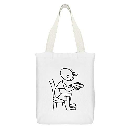 Bolsa de lona para manualidades, para leer un niño o un libro...