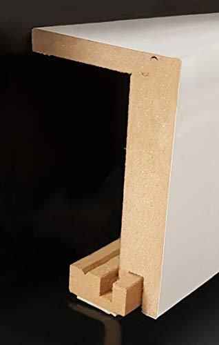 Heizrohrabdeckleiste 96 x 64 mm 721.9664.31 -mit selbstklebendem Montageprofil -Weiß | Verkleidung | Heizrohr Abdeckung | Rohrverkleidung