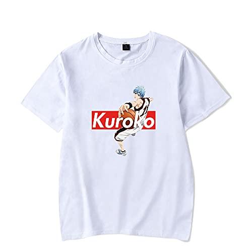 2021 Kuroko No Basket New Anime T-Shirt Casual Short Sleeved T Shirt Unisex Tee (White,Large)