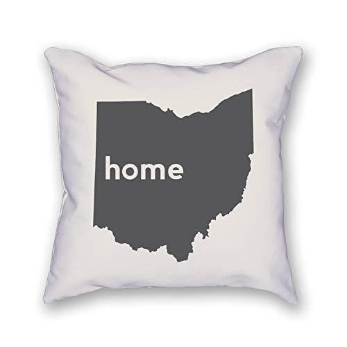 43LenaJon Fundas de almohada de lino de algodón Ohio Home