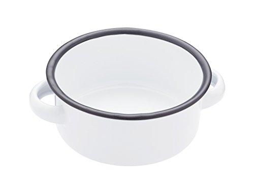 Kitchen Craft LNENDISH18 Bol de Service Living Nostalgia 18cm Blanc et Gris, Émail, Blanc et Gris, 28 x 28 x 18 cm