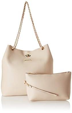 Flavia Women's Handbag (Cream)