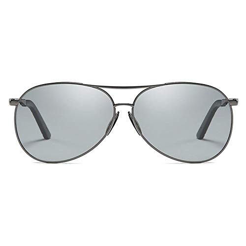 TYXL Sunglasses Las Nuevas Gafas De Sol UV400 Polarizadas Antideslumbrantes del Metal Clásico De La Tendencia Tienden A Las Gafas De Sol De Conducción De Los Hombres del Marco Negro/del Arma