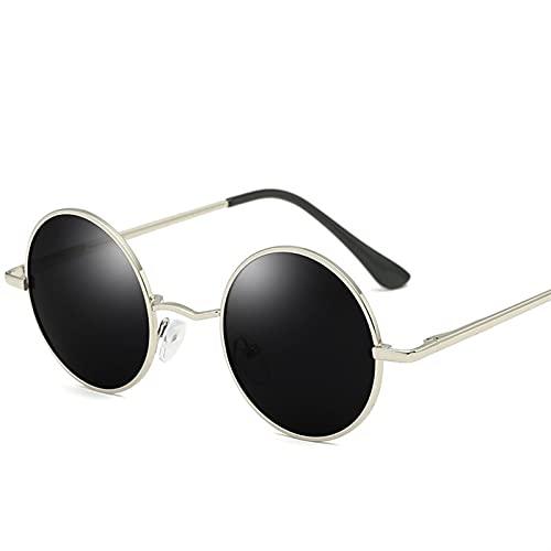 ZHATAOZH 2021 Moda Redonda Gafas de Sol Polarizadas Hombres Marca Diseño Mujeres Sombras Retro Aleación Gafas de Sol UV400 Gafas de Sol polarizadas para Gafas Hombres geniales para Mujer Deportes