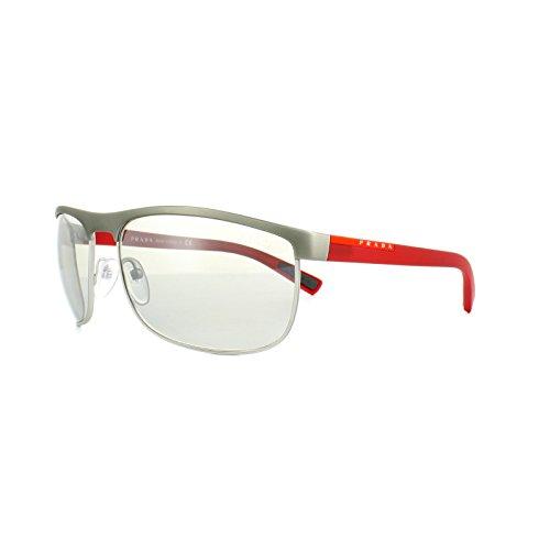 Prada Linea Rossa Herren PS54QS Sonnenbrille, Grau (Gunmetal Rubber Steel DG11I2), One size (Herstellergröße: 63)