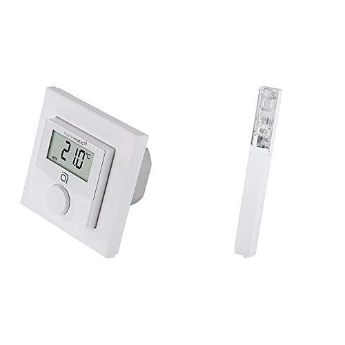 Homematic IP Wandthermostat mit Schaltausgang – für Markenschalter, 150628A0 & Smart Home Fenster- und Türkontakt – verdeckter Einbau – Smarte Überwachung der Fenster, 151039A0