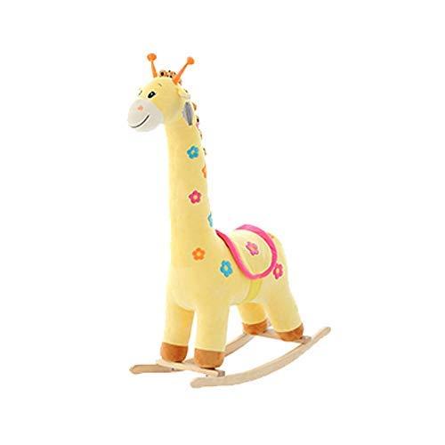 YUEZPKF Schön Schaukelstuhl Baby Rocking Horse, Kind Holz Rocker, Fahrt auf Spielzeug für 3+ Jahre alt, Schaukeln Tier Kind, Giraffe Rocking Ho (Color : C)