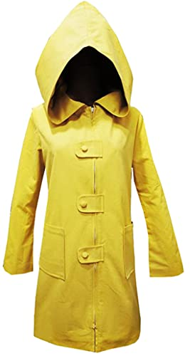 Faonny Six Cosplay Little Nightmares Costume Yellow Jacket Hooded Cape Uniform for Halloween Party