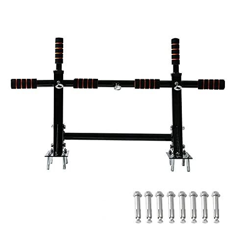 XYWCHK Barra de tire de la barra, barra de barra montada en la pared, barras de placa de entrenamiento de la barra para uso doméstico, barra de ejercicios, barra de entrenamiento de cuerpo superior, b