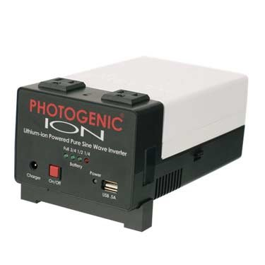 Photogenic ION Lithium-ion Powered Pure Sine Wave Inverter - Portable Power for Studio Lights