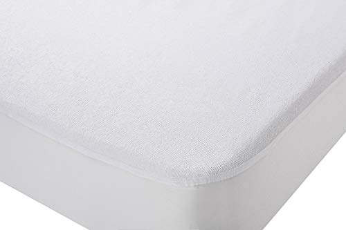 npt - Protector de Colchón/Cubre Colchón ajustable elástico. Impermeable y transpirable e hipoalergénico. (Cama de 150 x 190 cm)
