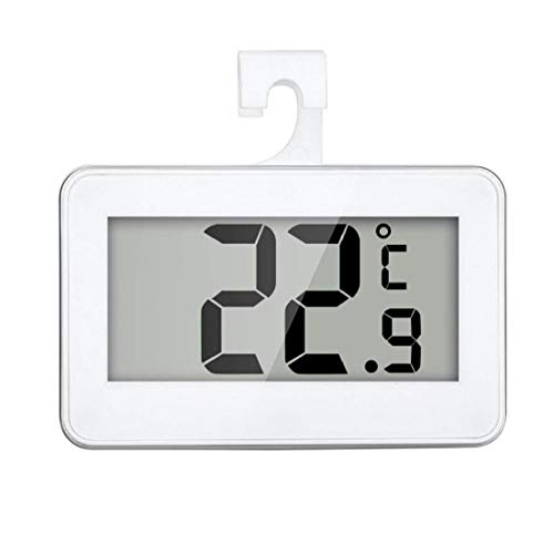 Ohomr Termómetro del refrigerador Digital Resistente al Agua de Temperatura inalámbrico Refrigerador Congelador a Partir -20 a 60 Grados Grande del LCD Display