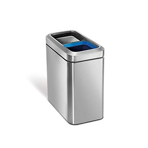 SimpleHuman Balde do Lixo para Reciclar 10+10L - A21124642