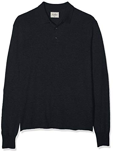 Scalpers LS Summer Polo Tricot Jersey, Azul (Navy Melange 18271), Medium (Tamaño del Fabricante:M) para Hombre