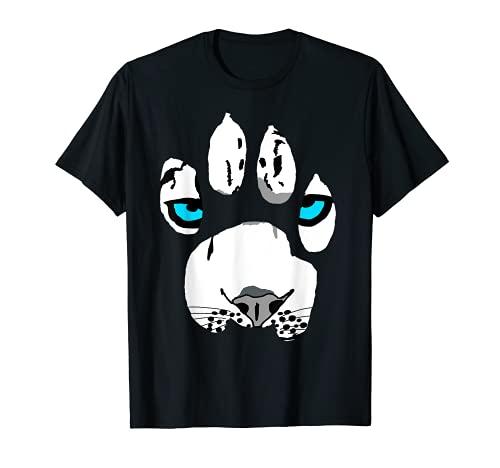 Nieve Leopardo Pata Gato salvaje Felino Tigre Camiseta