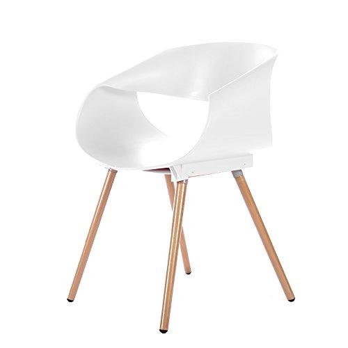 G-Y Sofa Paresseux, Chaise De Roulement De Chaise D'oeufs, Chaise En Bois Solide De Café En Bois De Dinant La Chaise (Couleur : Blanc)