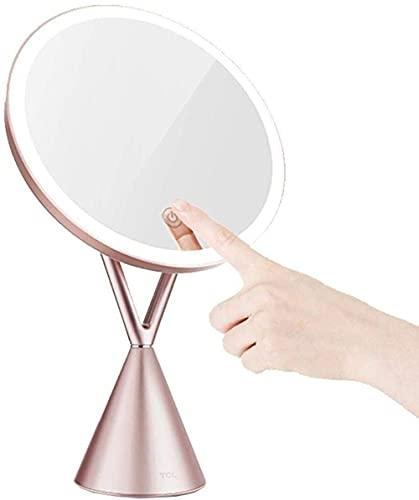WFY Espejo de Maquillaje con lámpara Zoom Fill Light HD Dayight Mirror Mirror Espejo portátil Mirror Pequeño pequeño y Conveniente
