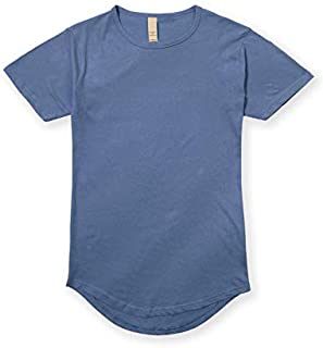 JD Apparel Men's Hipster Longline Drop Cut T-Shirts