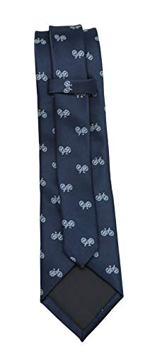 FAD Mens' Fashion Business Solid, Woven, Stripes Necktie Tie,Blue Bicycle