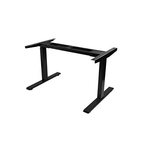 POKAR Elektrisch Höhenverstellbarer Schreibtisch/Schreibtischgestell/Tischbeine Stehtisch Höhenverstellbar mit Memory-Funktion und Soft-Start/Stop, Schwarz