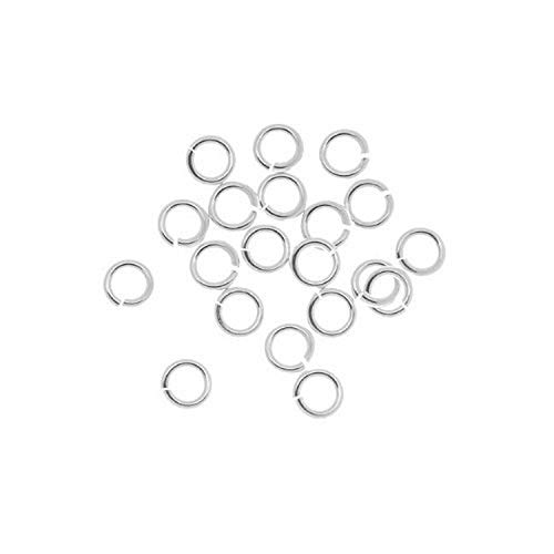 Beadaholique SSJL04 20-Piece Sterling Jump Lock Rings, 4mm, 20-Gauge,...