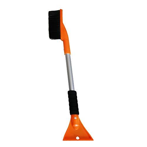 MYSBIKER Cepillo de nieve y raspador de hielo de 81,2 cm, rascador de nieve 2 en 1 con agarre suave antideslizante para coche, removedor de nieve y herramienta anticongelante, color amarillo