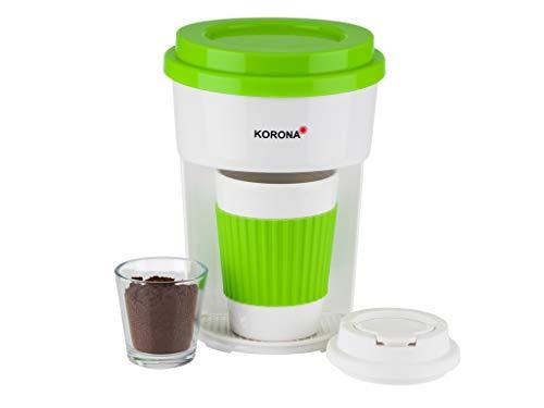 Korona 12203 Kaffeemaschine in grün/weiß | Filter Kaffeeautomat mit Becher To Go | 350 ml