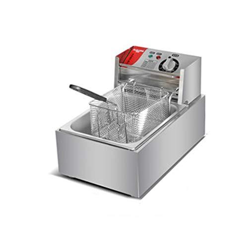GFF@ Catering Friteuse Électrique De Restaurant Simple Professionnelle (10/20 L, Zone Froide, Thermostat, Élément Amovible)