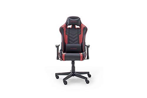 Robas Lund DX Racer Sport OK 132 Gaming Stuhl Bürostuhl Schreibtischstuhl mit Wippfunktion Gamer Stuhl Höhenverstellbarer Drehstuhl PC Stuhl Ergonomischer Chefsessel, schwarz-rot