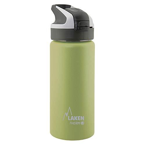 Laken Botella Térmica Summit de Acero Inoxidable para Niños, con Tapón Automático y Cierre de Seguridad, 350 ml, Khaki